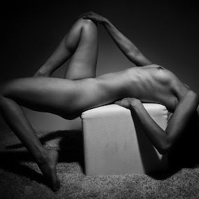 Woman in Black and White by Weko Haryo - Nudes & Boudoir Artistic Nude (  )