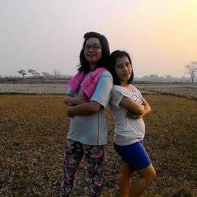 Jogging by Esterlin Wau - People Family ( family, sports, landscape, people )
