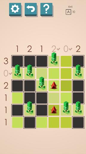 Des Tentes et des Arbres Puzzles captures d'u00e9cran 1