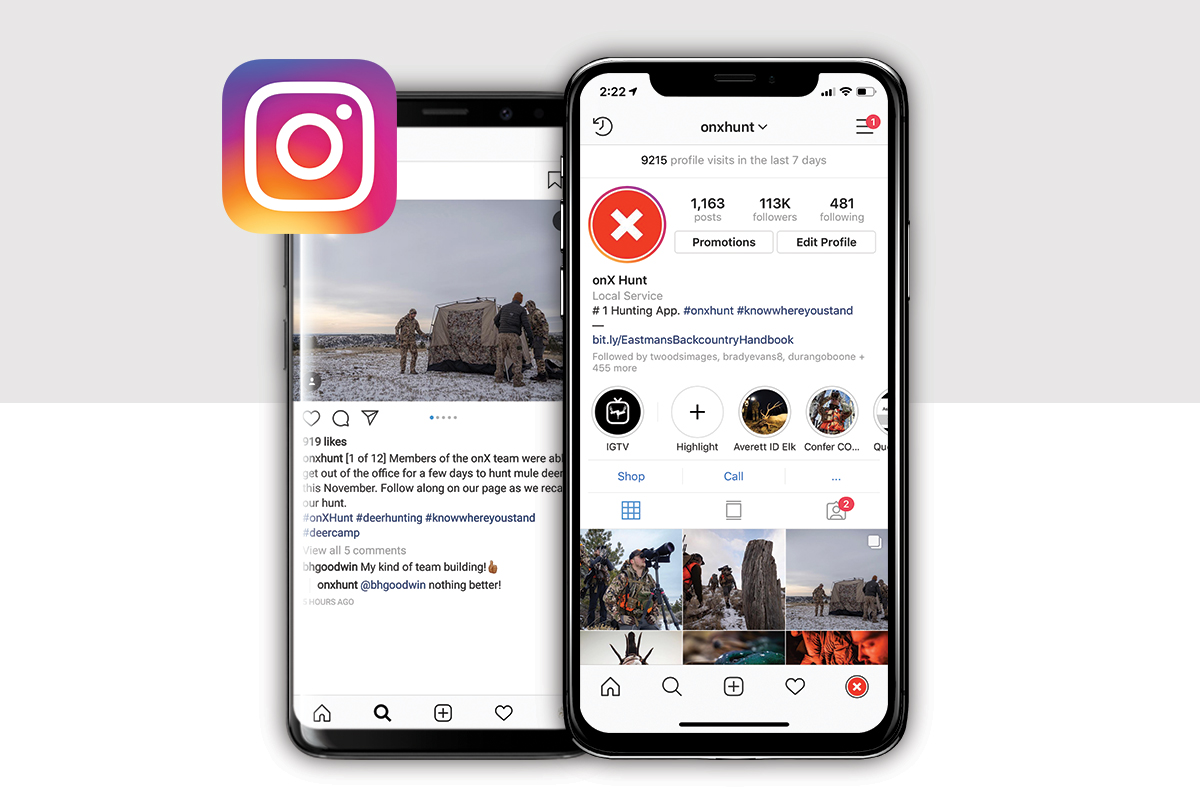 Follow along with onX Hunt on Instagram