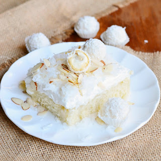 Coconut Cake with White Chocolate/Coconut Cream & Whipped Topping