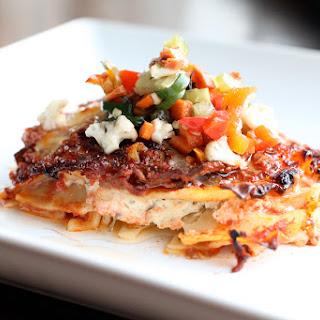 Italian Beef Lasagna with Giardiniera