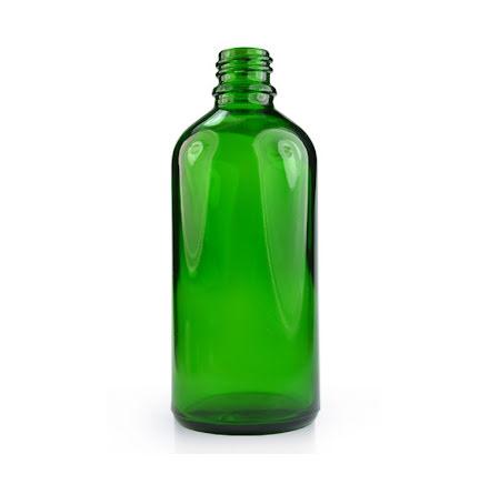 Glasflaska 100 ml - grön