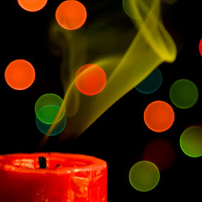 Candle, Smoke & Bokeh by Agung Cahyono - Abstract Patterns