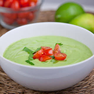 Chilled Cucumber Avocado Soup.