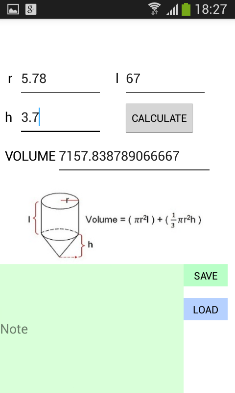 Volume Calculator Adfree Android Apps On Google Play