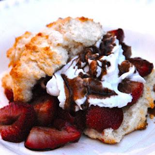 Roasted Balsamic Strawberry Shortcake