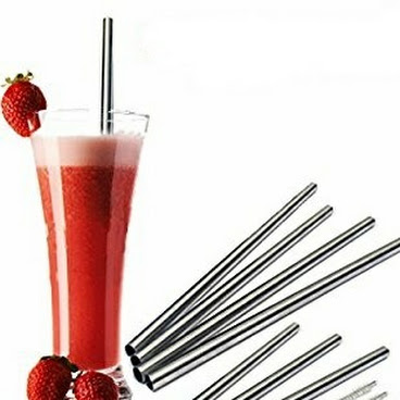 Stainless Steel Wide Smoothie Straws