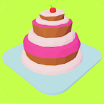 Towers, monsters and cake icon
