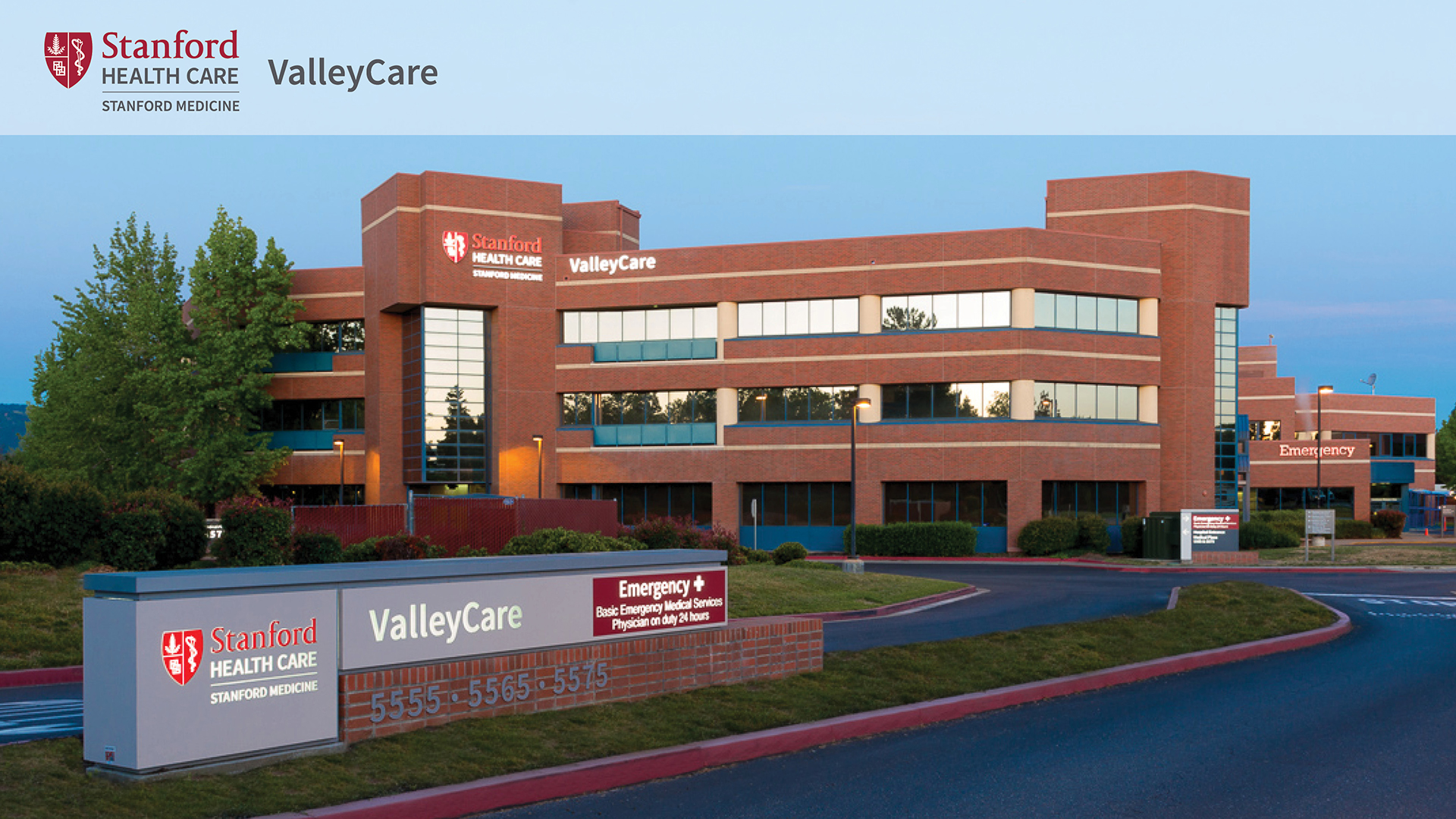 Stanford's ValleyCare facility on the Stanford Health Care campus.