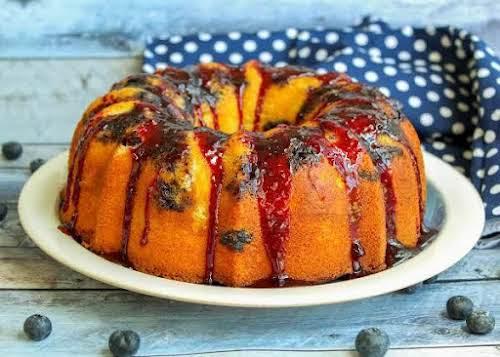 "Jamie's Blueberry Bundt Cake With Sauce""This blueberry Bundt cake is fantastic! It's..."