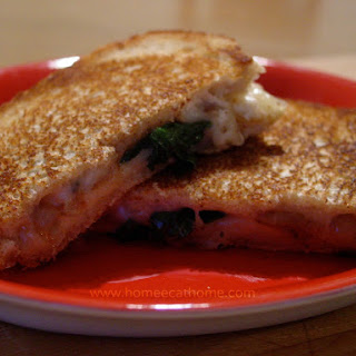 Caramelized Onion and Spinach Grilled Cheese