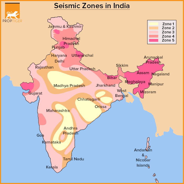 Image result for seismic zones in india