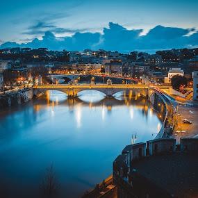 Rome by Zisimos Zizos - Buildings & Architecture Bridges & Suspended Structures ( rome, longexposure, dramatic, river )