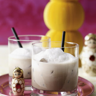 White Russian (with foam).
