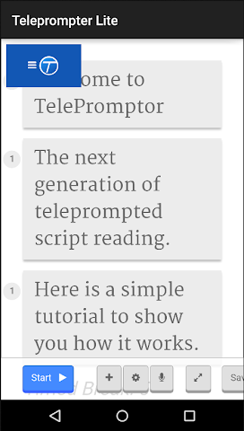 android Teleprompter Lite Screenshot 0