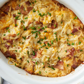 Slow-Cooker Cheesy Potato Breakfast Casserole.