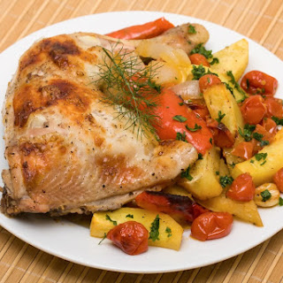 Paleo Slow Cooked Chicken Legs & Vegetables