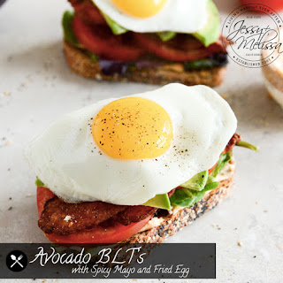 Avocado BLT's with Spicy Mayo and Fried Egg.