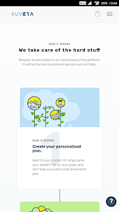 Kuvera Direct Mutual Fund App - náhled