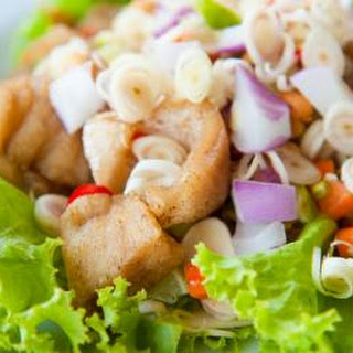 Trout Salad On Lettuce Leaves