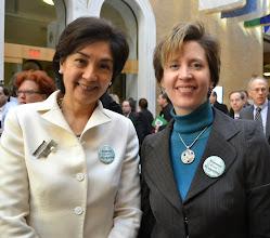 Photo: Justice Nan Duffly (SJC) and BBA President-Elect Julia Huston.