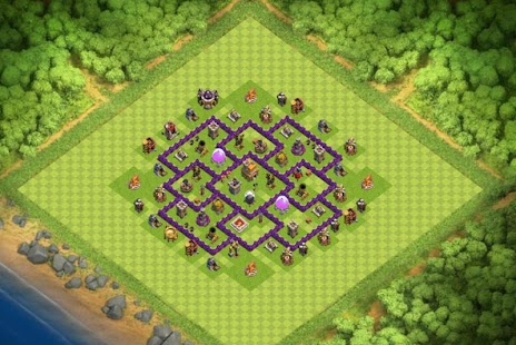 Maps COC TH 7 Clan War Base - náhled