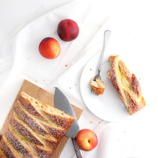 Nectarines and Cream Breakfast Loaf.