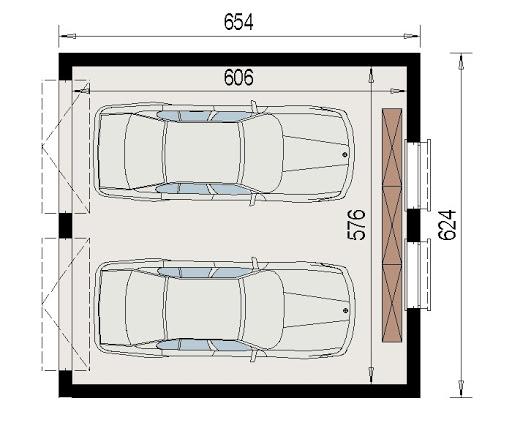 AD-G2.1 - Rzut garażu