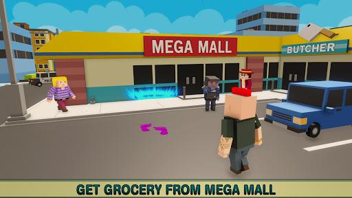 virtual life in a simple blocky town screenshot 3