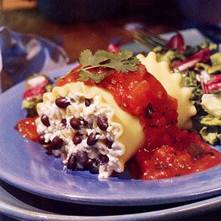 Black Bean Lasagna Rolls