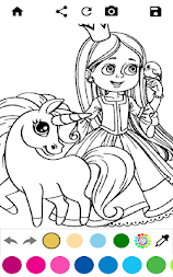 Unicorn Coloring Pages – Pony Coloring Book APK screenshot thumbnail 8