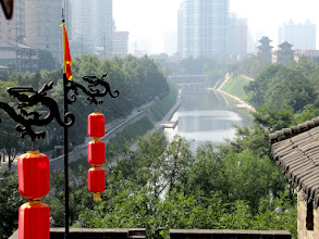 Photo: Day 188 -  The View from the Old City Wall in Xi'an