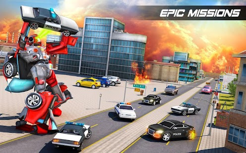 Futuristic Car Robot Rampage- screenshot thumbnail