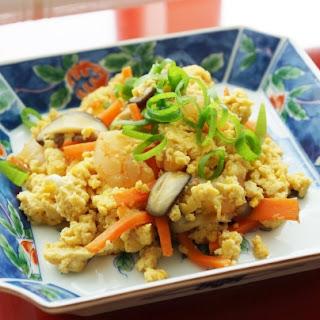 Scrambled Tofu with Shrimp <by Miyuki>