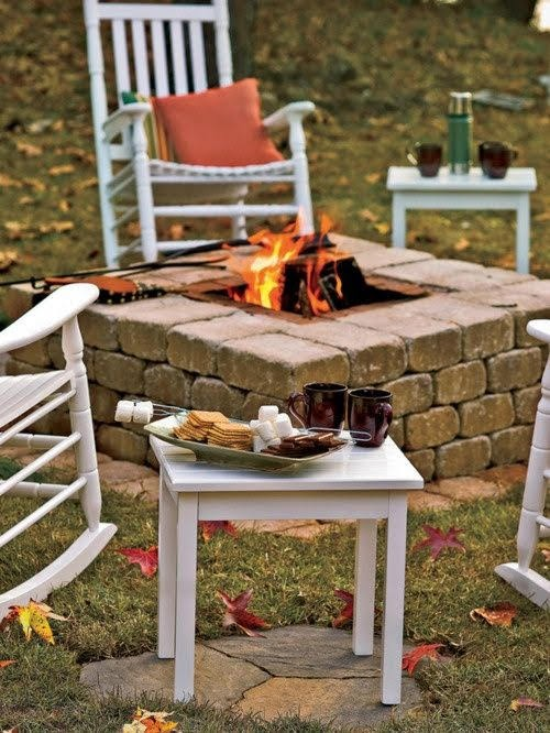 brick fire pit ideas diy