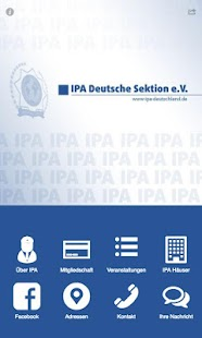IPA Deutsche Sektion e.V. – Miniaturansicht des Screenshots