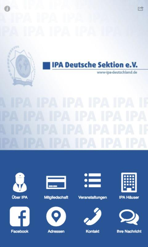 IPA Deutsche Sektion e.V. – Screenshot