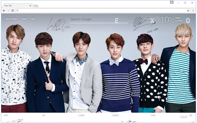 Exo Wallpaper Hd New Tab Themes Chrome Nettmarked