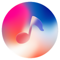 Phone X Music - Red player icon