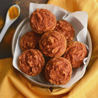 Healthy Turmeric Muffins {Paleo, GF, Low Cal} Recipe