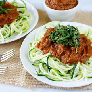 VRaw Zucchini Noodle Spaghetti Marinara (low-fat, nut, seed & oil-free)
