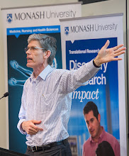 Photo: Prof Kit Fairley, Director of the Melbourne Sexual Health Centre, on how best to reduce harm and transmission of STDs. http://www.med.monash.edu.au/cecs/events/2015-tr-symposium.html