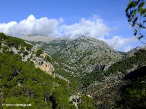 Photo: cap al nord les cases dels Horts, el puig de n'Ali i, darrere, el puig de Massanella