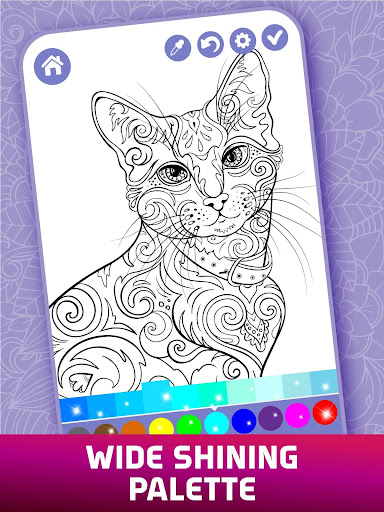 Relaxing Adult Coloring Book apkpoly screenshots 7