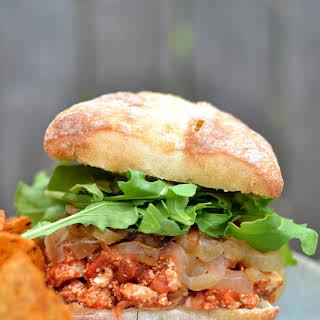 Vegan Eggplant Parm Sandwich.