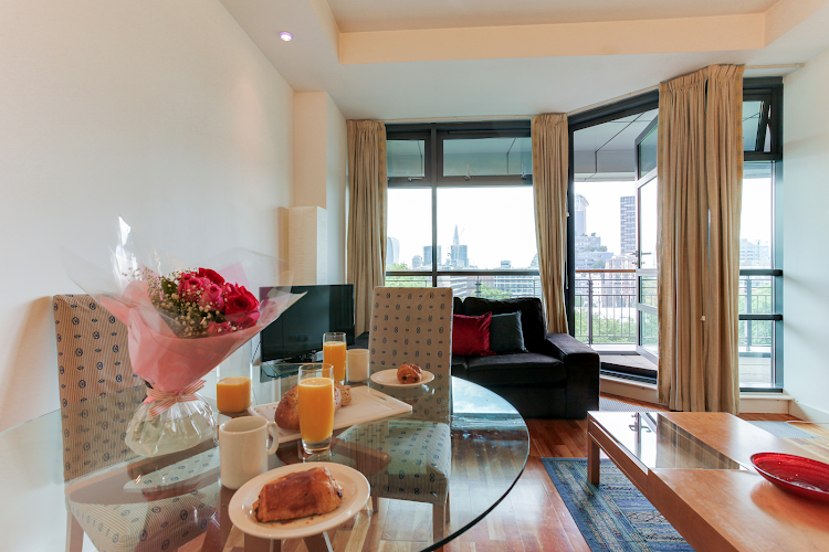 living space at Lexington Serviced Apartments, Old Street