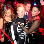 getting cornered by the BDSM girls at Maison Nightclubs Halloween Party in Toronto in Toronto, Ontario, Canada
