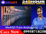 Get Medilift Air and Train Ambulance Facilities in Patna for Reliable Services
