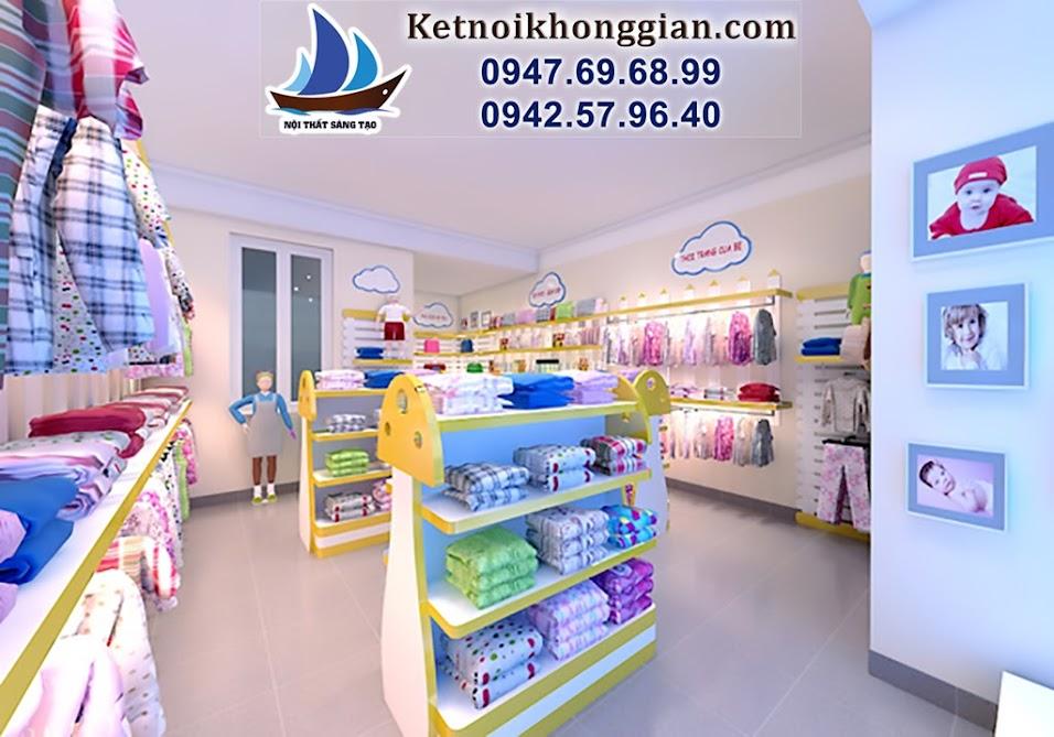 thiết kế cửa hàng quần áo trẻ em sáng tạo thu hút đầy sức sông